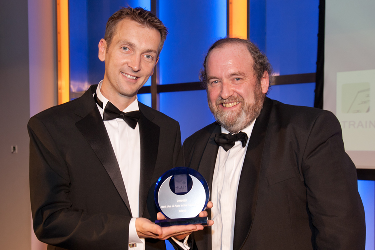 BSkyB wins the TCC award for Best Use of Agile in the Private Sector at the Agile Awards 2011